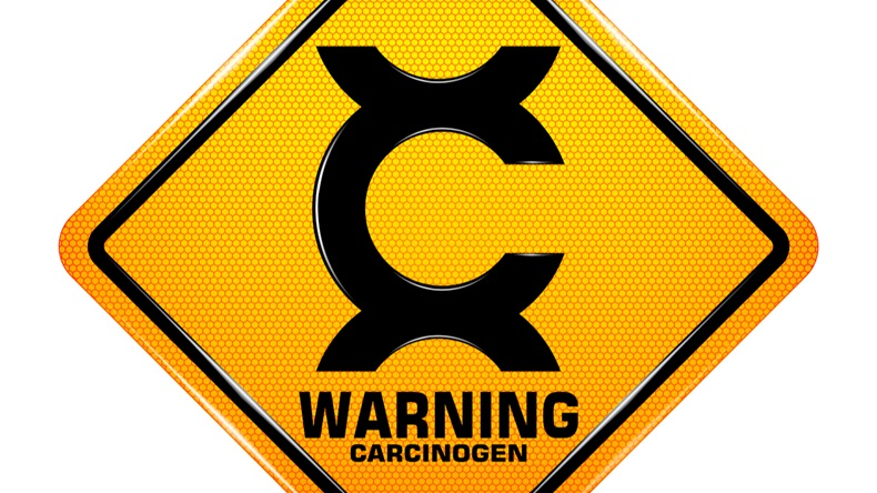 International Carcinogen Hazard Symbol,Yellow warning Dangerous icon isolated on white background, Attracting attention, Compulsory, Control, practice, Security first sign, Vector, EPS10