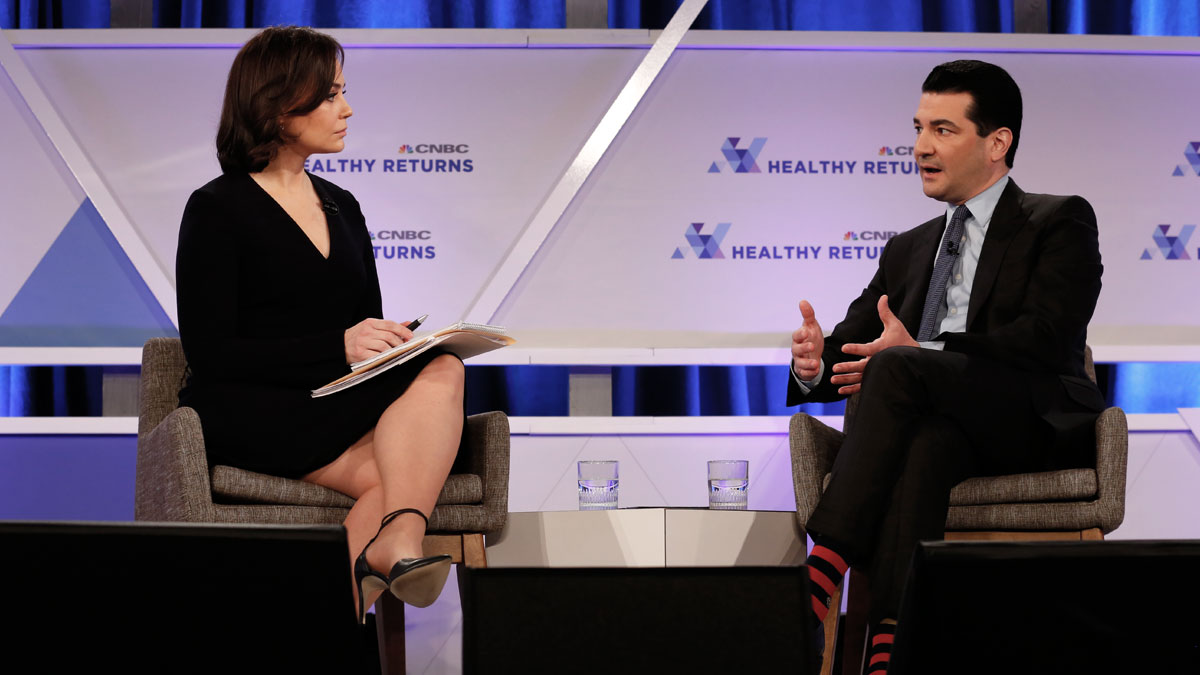 CNBC's Meg Tirrell interviews Scott Gottlieb, M.D., Commissioner of Food and Drugs, U.S. FDA, at CNBC's Healthy Returns conference March 28th in NYC (